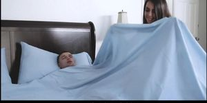 Skinny Latina Teen Stepsister With Braces Is Very Horny For Her Stepbrother