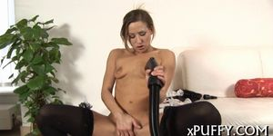 Plowing pussy with candle - video 12